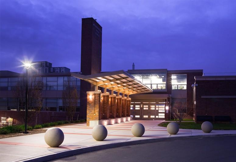 Main Entrance Plaza At Night